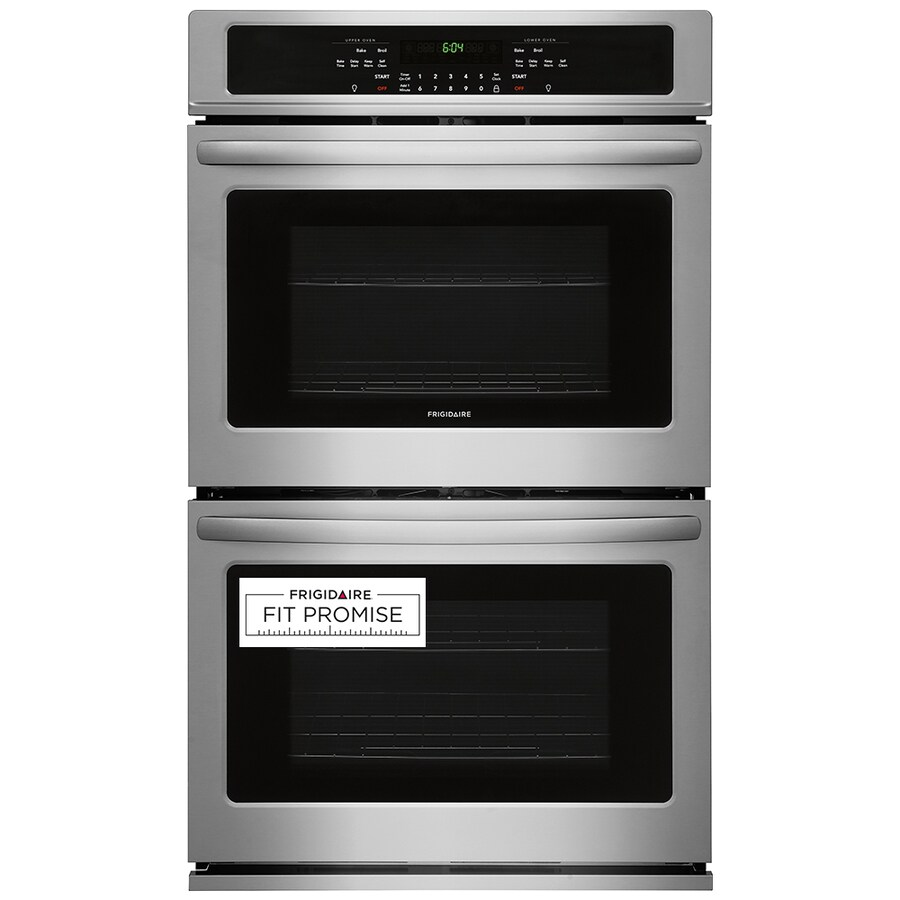 frigidaire 30 in self cleaning double electric wall oven easycare stainless steel