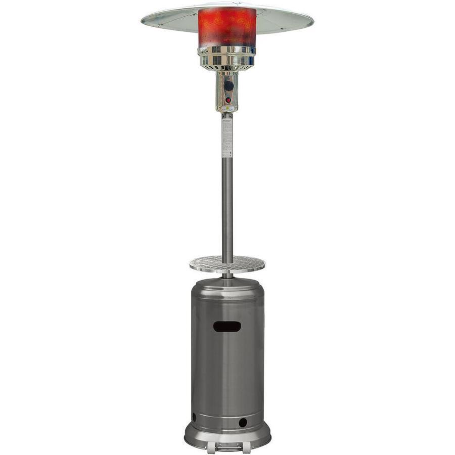hanover 48000 btu stainless steel floorstanding liquid propane patio heater