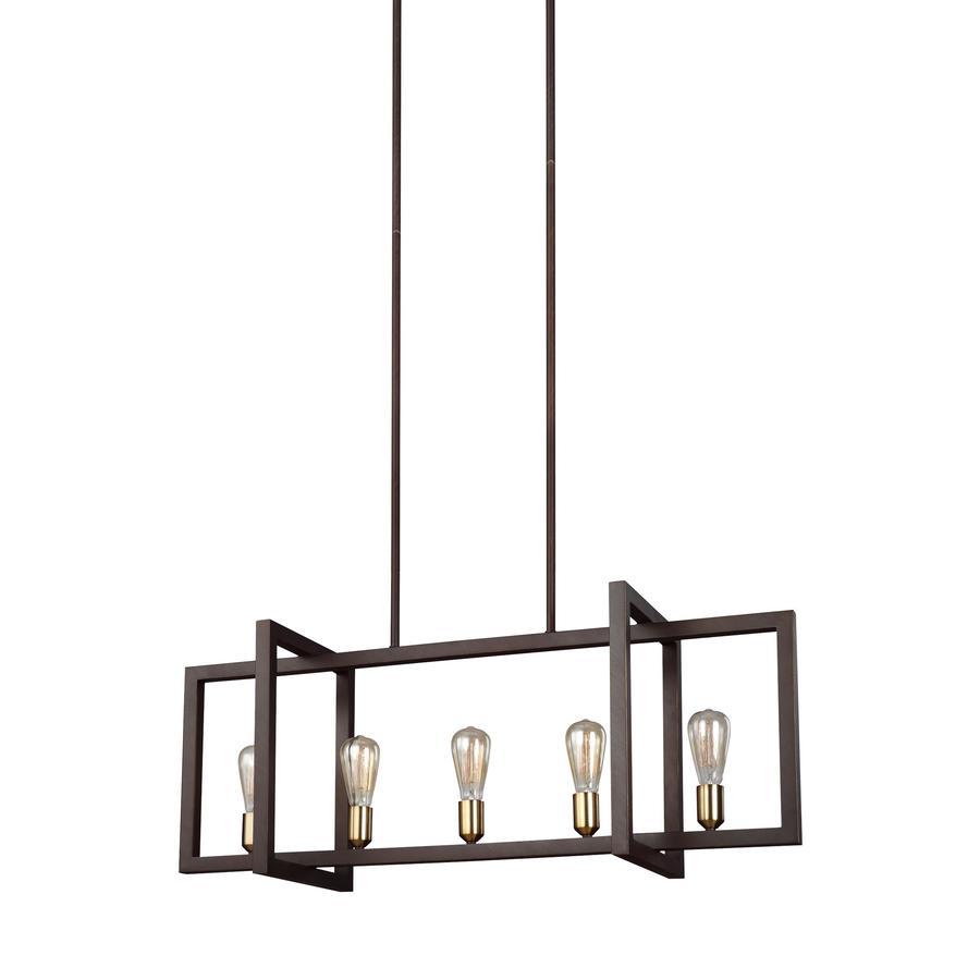 feiss finnegan 5 light new world bronze transitional chandelier