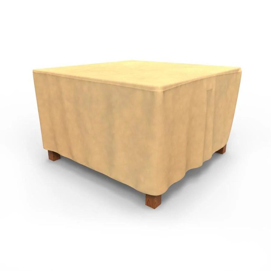 budge all seasons tan polypropylene patio furniture cover