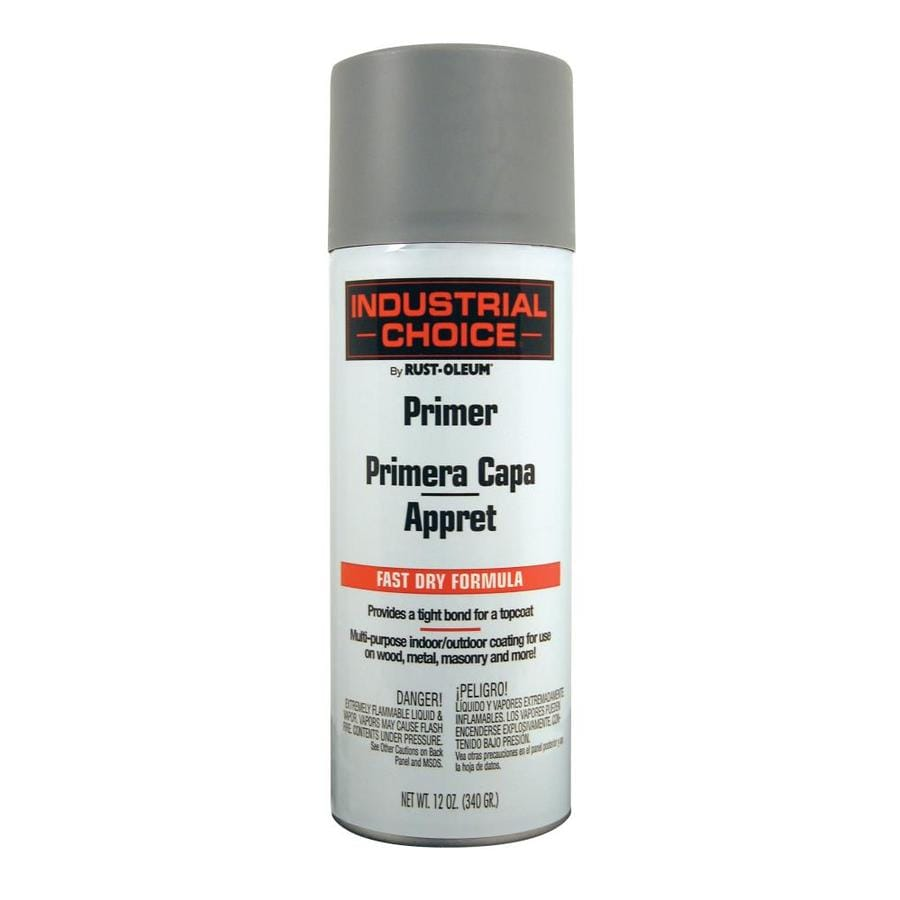 Shop Rust Oleum Industrial Choice Gray Spray Paint Actual Net Contents 12 Oz At