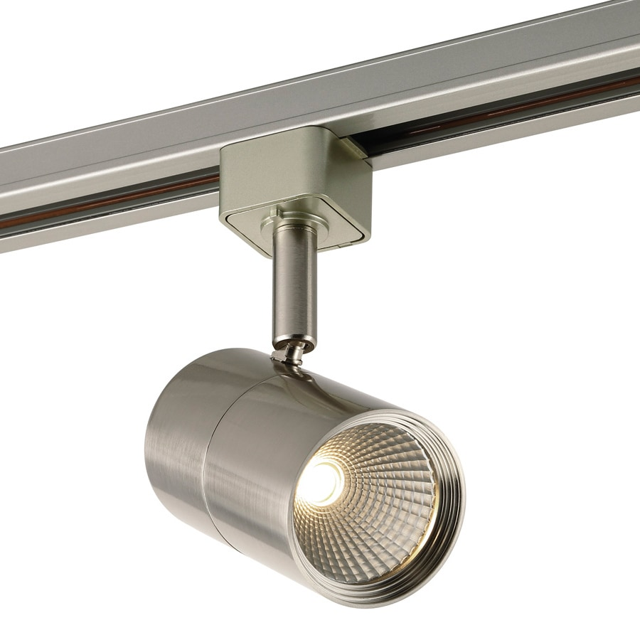 project source 1 light dimmable brushed nickel flat back linear integrated led track lighting head