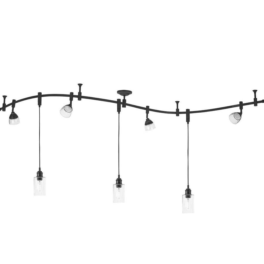 Shop allen   roth 7 Light 96 in Bronze Dimmable LED Flexible Track     allen   roth 7 Light 96 in Bronze Dimmable LED Flexible Track Light with