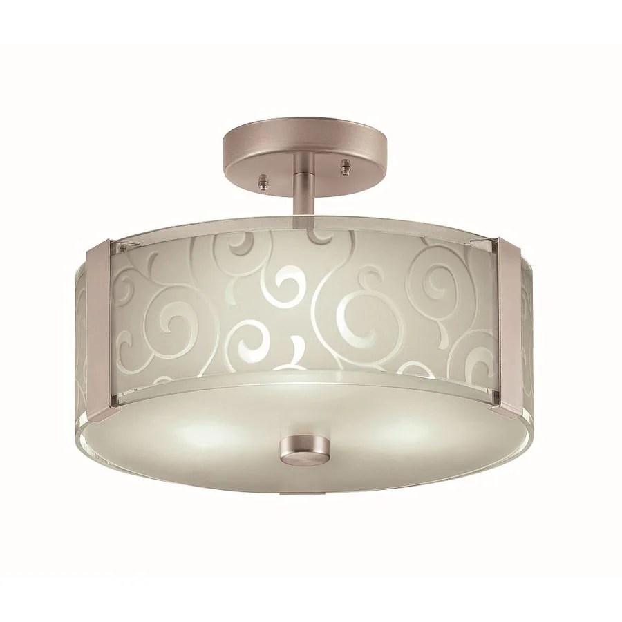 portfolio 13 2 in brushed nickel modern contemporary semi flush mount light