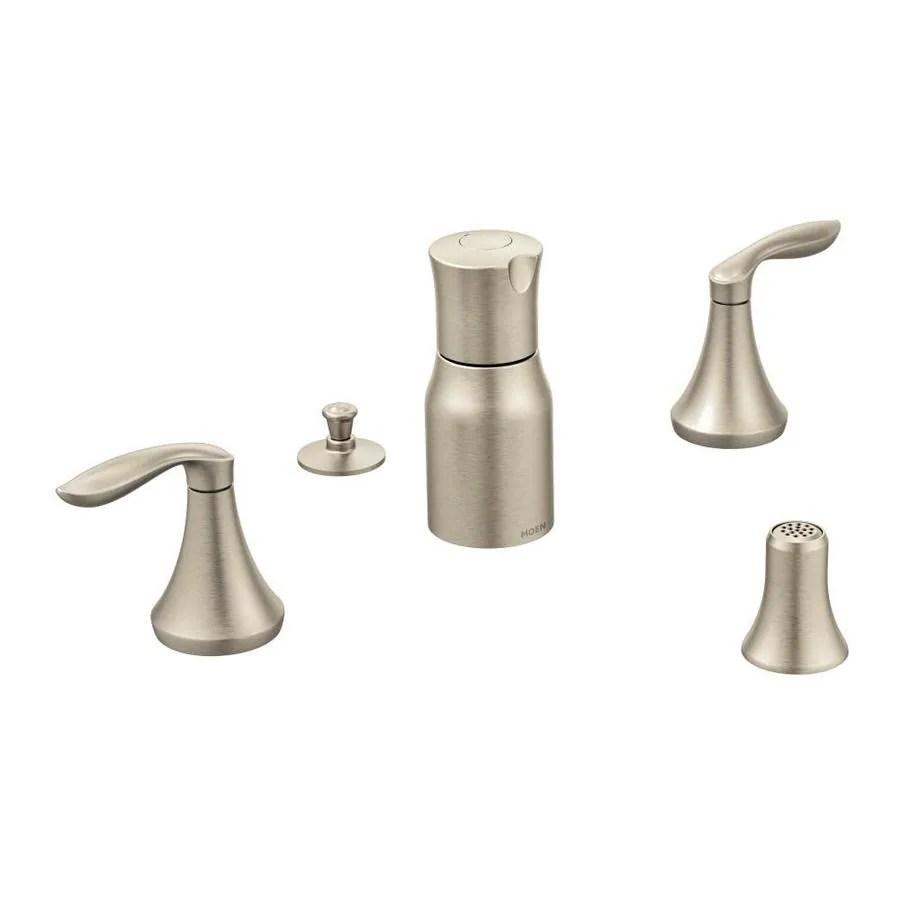 moen eva brushed nickel vertical spray bidet faucet trim kit in the bidet faucets department at lowes com