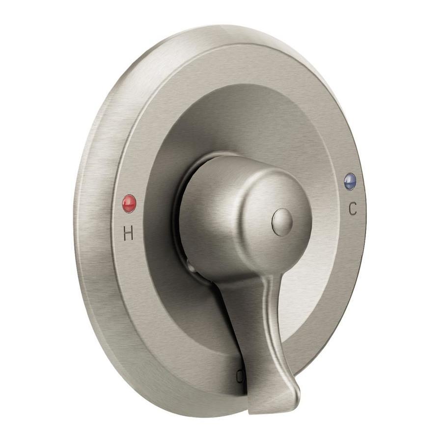 moen classic brushed nickel lever shower handle