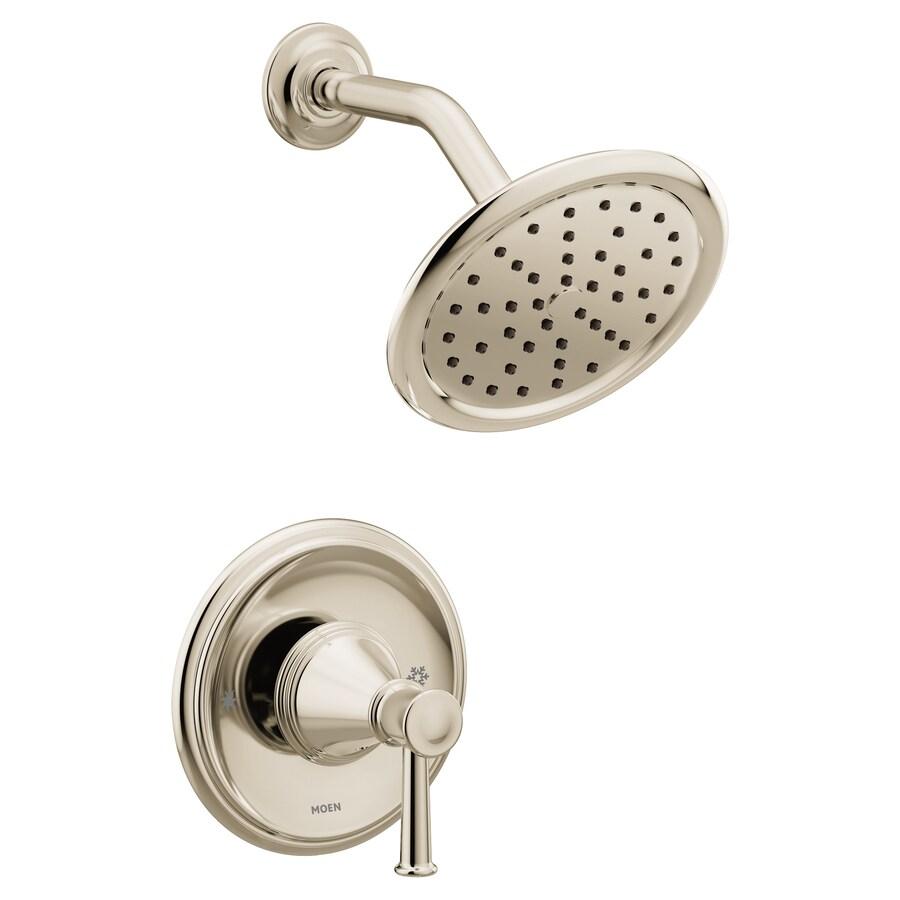 moen belfield polished nickel 1 handle shower faucet