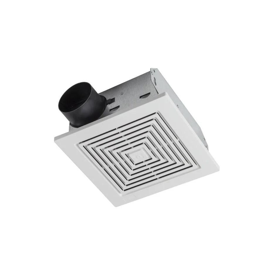 broan ceiling wall exhaust fan 5 5 sone 60 cfm white bathroom fan
