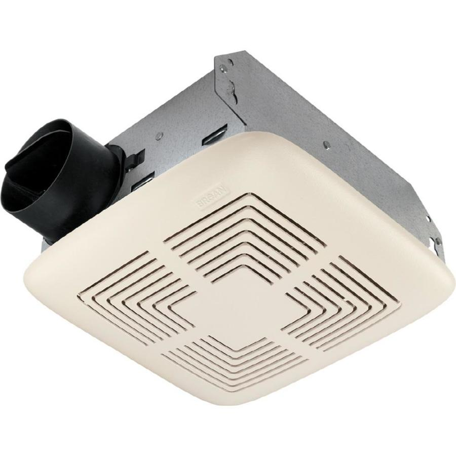 shop broan 4-sone 70-cfm white bathroom fan at lowes