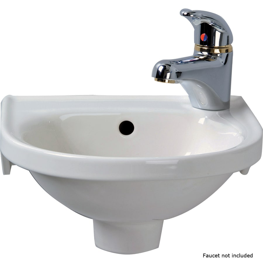 barclay rosanna white wall mount round bathroom sink with overflow drain 11 87 in x 11 87 in