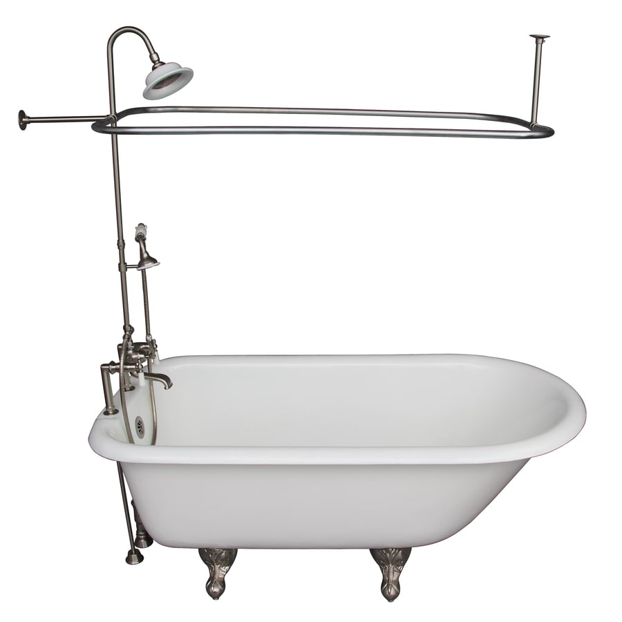 Shop Barclay 6075 In White With Back Center Drain Bathtub