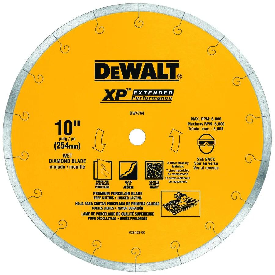 dewalt 10 in wet continuous diamond tile saw blade