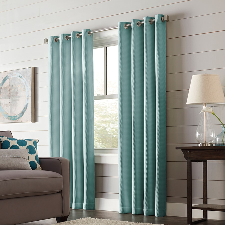Shop Allen Roth Romanby 63 In Mineral Polyester Grommet Blackout Thermal Lined Single Curtain