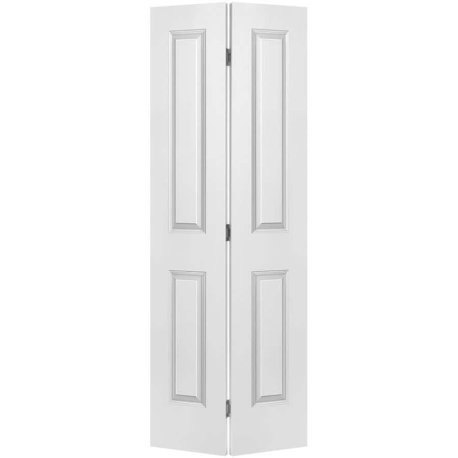 Shop Masonite Hollow Core 2 Panel Square Bi Fold Closet