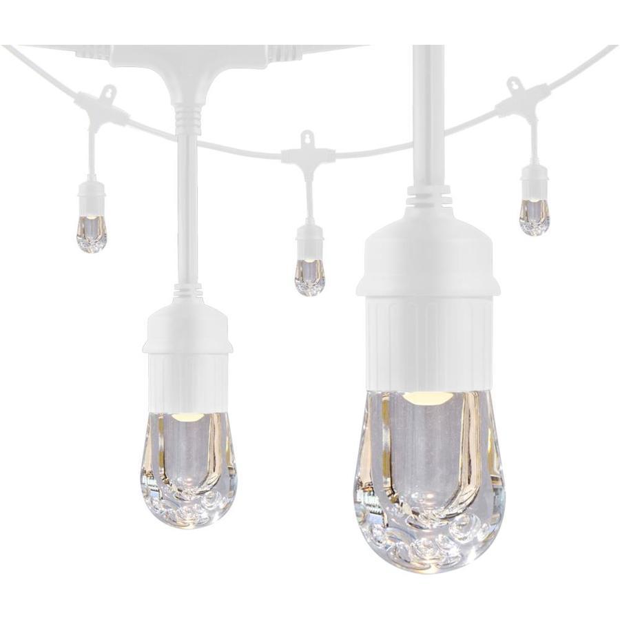 enbrighten 24 ft 12 light plug in white led string lights
