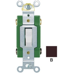 Eaton 30Amp Double Pole Brown Toggle Light Switch at
