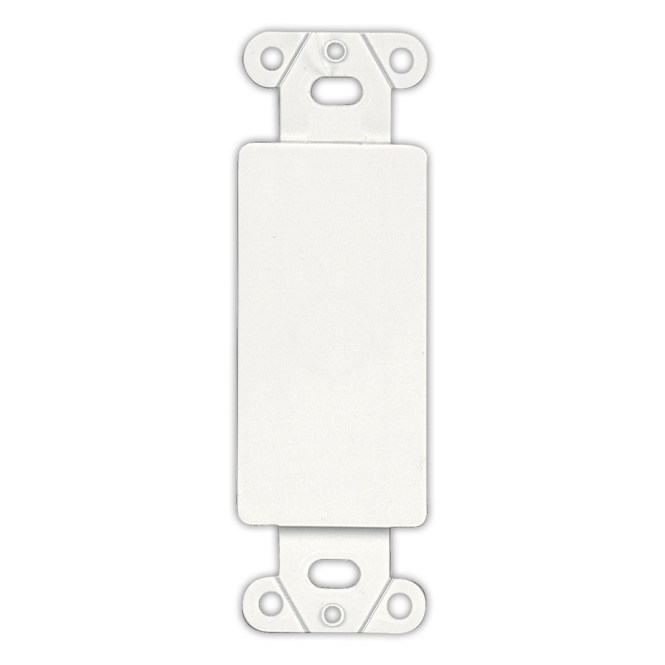1 Gang Decora Blank Insert White