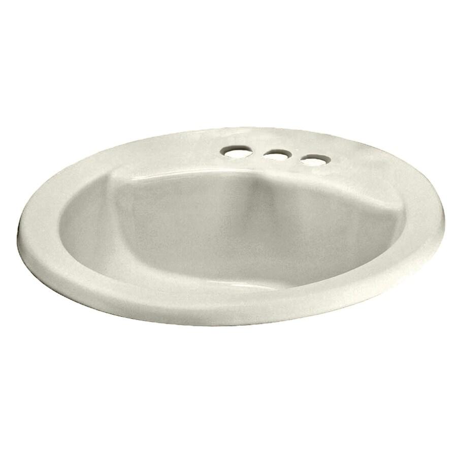 american standard linen drop in round bathroom sink with overflow drain 19 in x 19 in