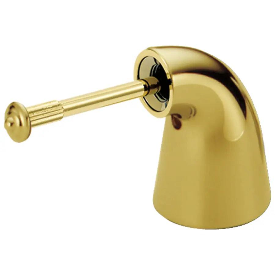 delta polished brass bathroom sink faucet handle