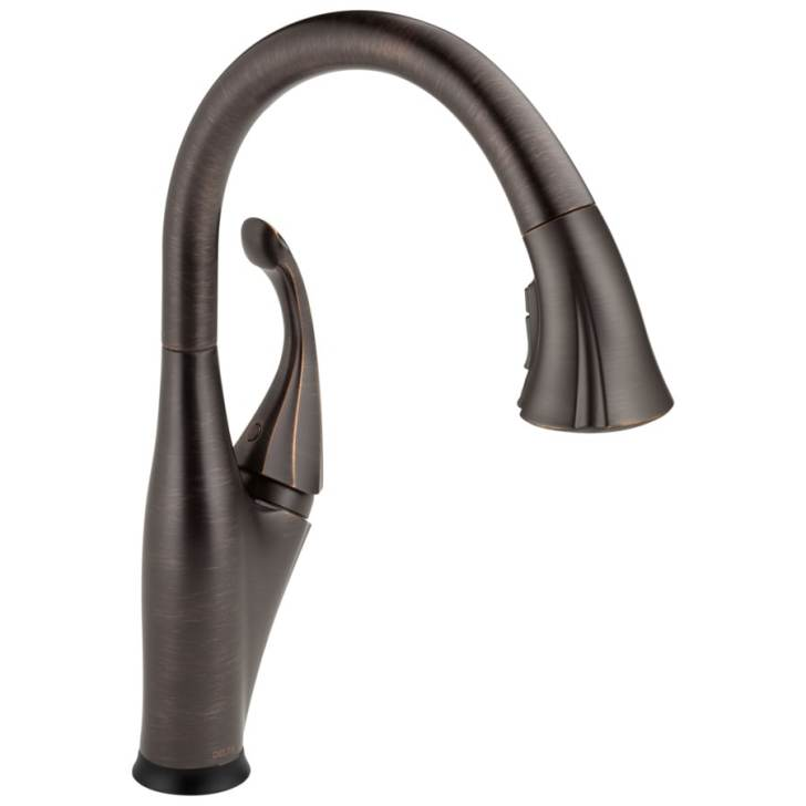 Touch2o Venetian Bronze Handle Pull Down Touch Kitchen Faucet
