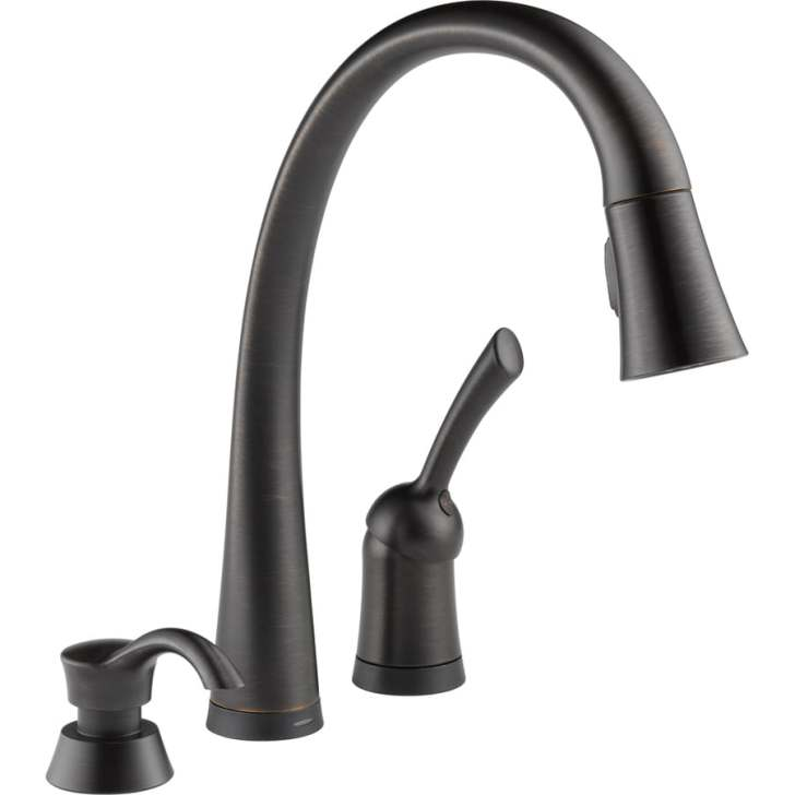Pilar Touch2o Venetian Bronze Handle Pull Down Touch Kitchen Faucet