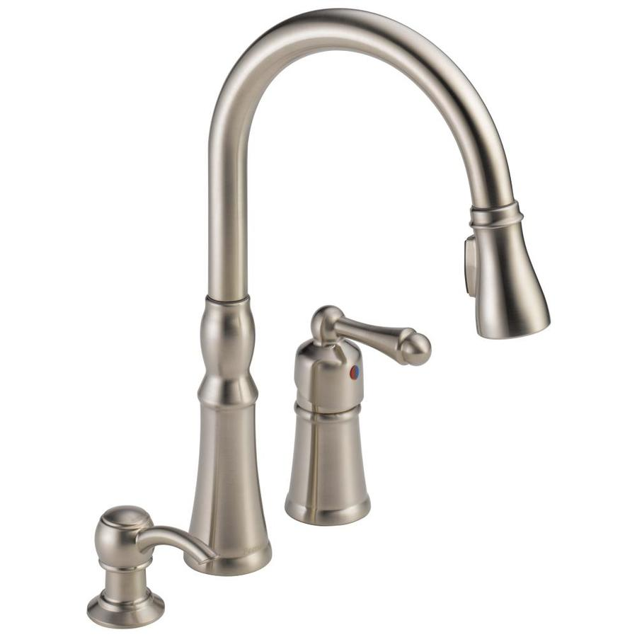 16 pull down kitchen sink faucet dual