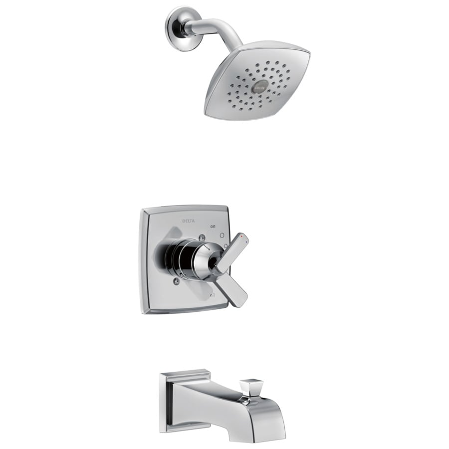 Shop Delta Ashlyn Chrome 1 Handle Bathtub And Shower Faucet At