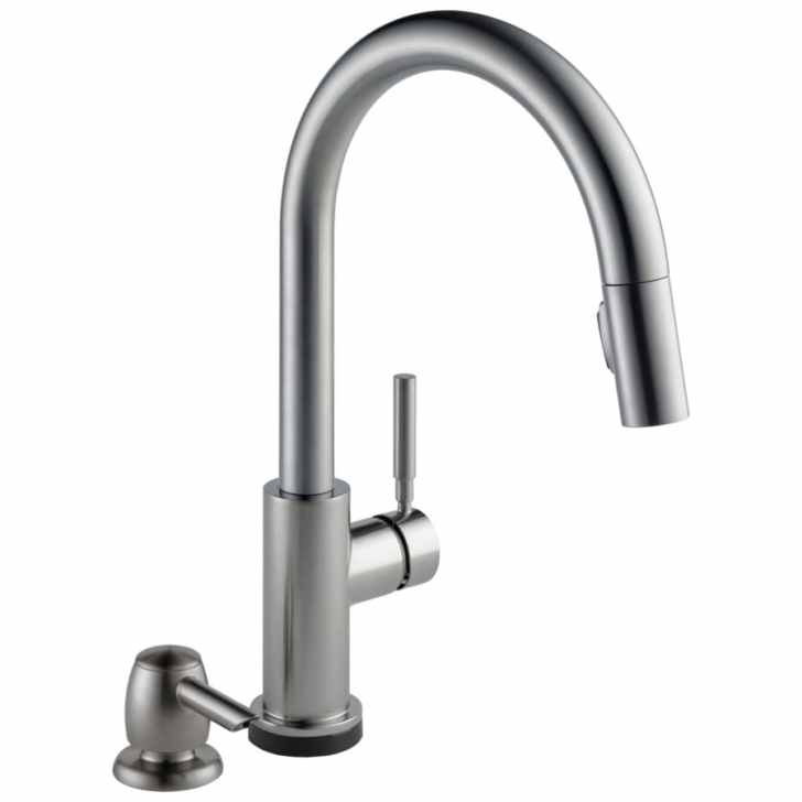 Touch2o Spotshield Stainless Handle Pull Down Touch Kitchen Faucet