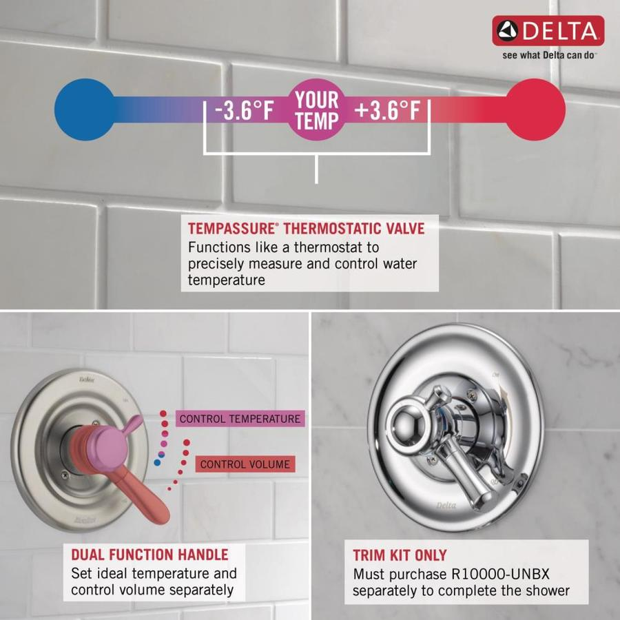 delta pivotal matte black 1 handle bathtub and shower faucet in the shower faucets department at lowes com