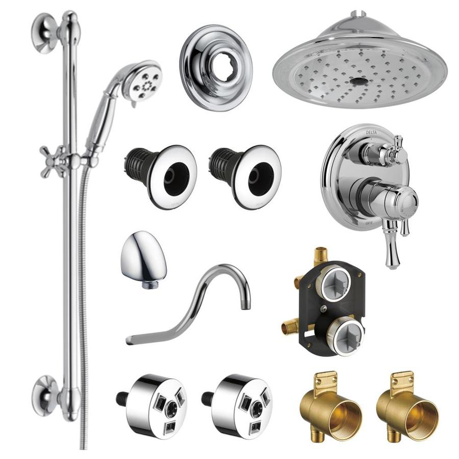 delta cassidy chrome 2 spray shower bar system valve included