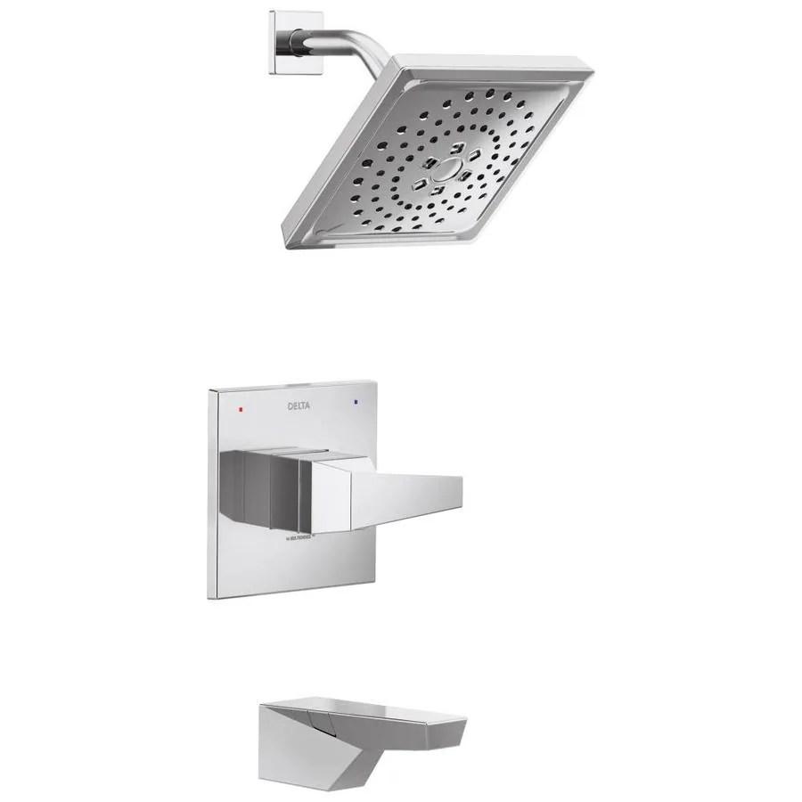 delta trillian chrome 1 handle bathtub and shower faucet