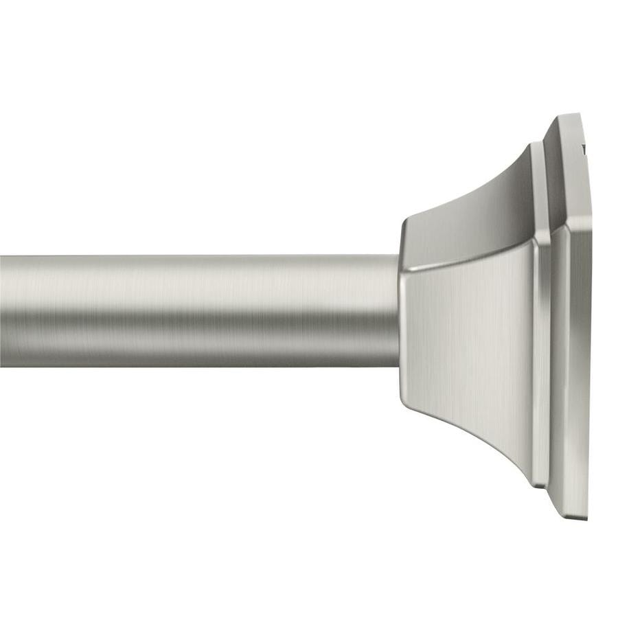 moen 44 in to 72 in brushed nickel tension single straight shower rod lowes com