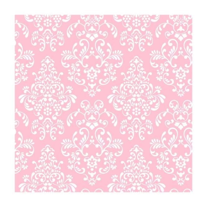 York Wallcoverings K A Boo Pink Paper Damask Wallpaper