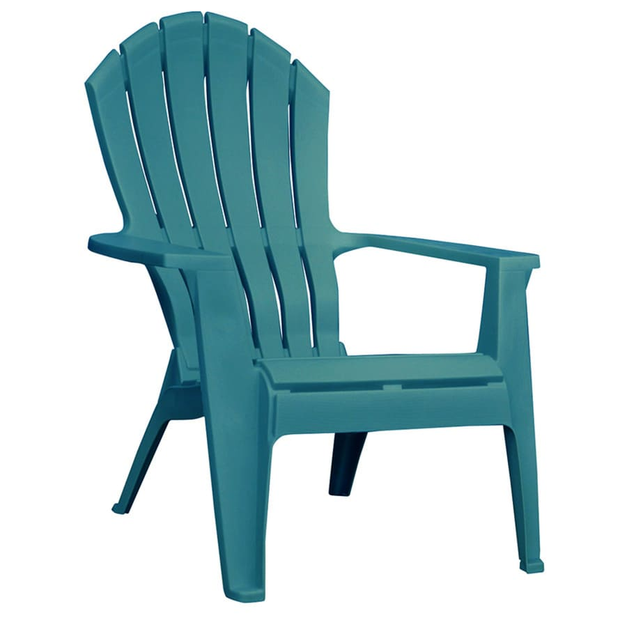 adams manufacturing realcomfort stackable teal plastic frame stationary adirondack chair s with solid seat