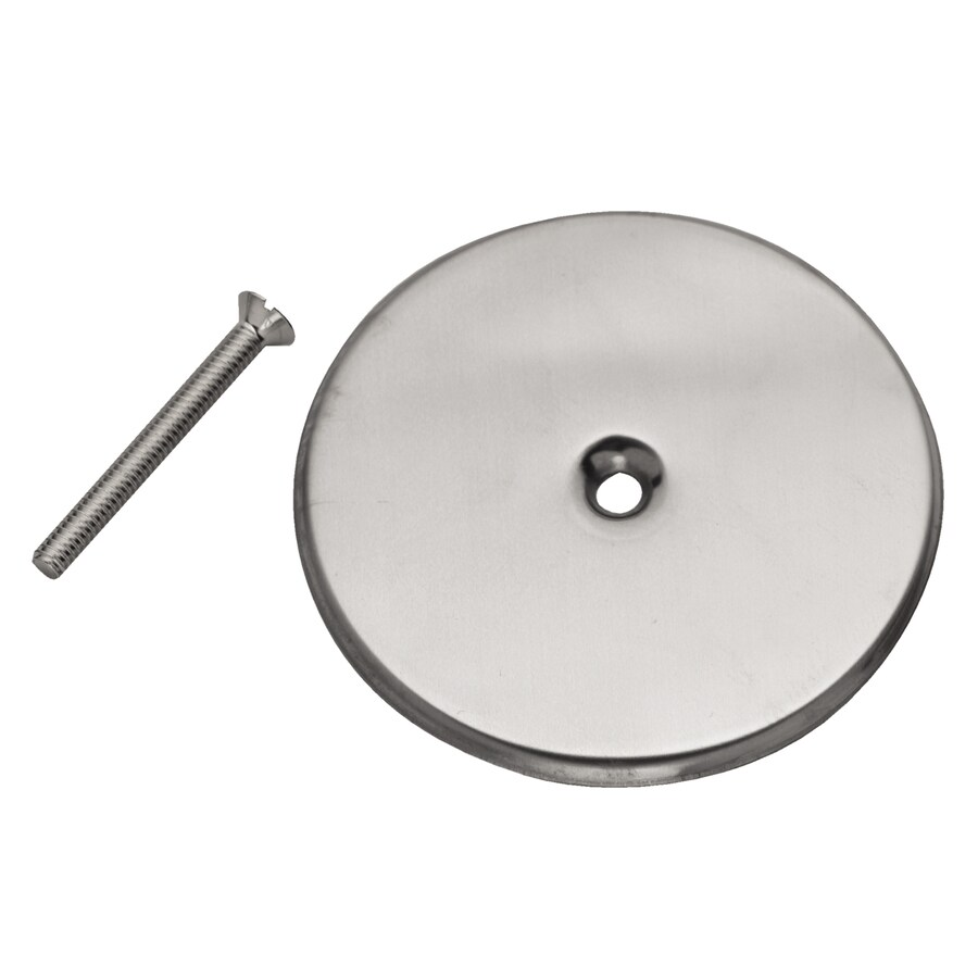 Shop Oatey 7 In Solid Round Stainless Steel Cover Plate At
