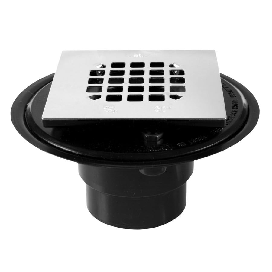 Shop Oatey 3 In Square Holes Square ABS Shower Drain At