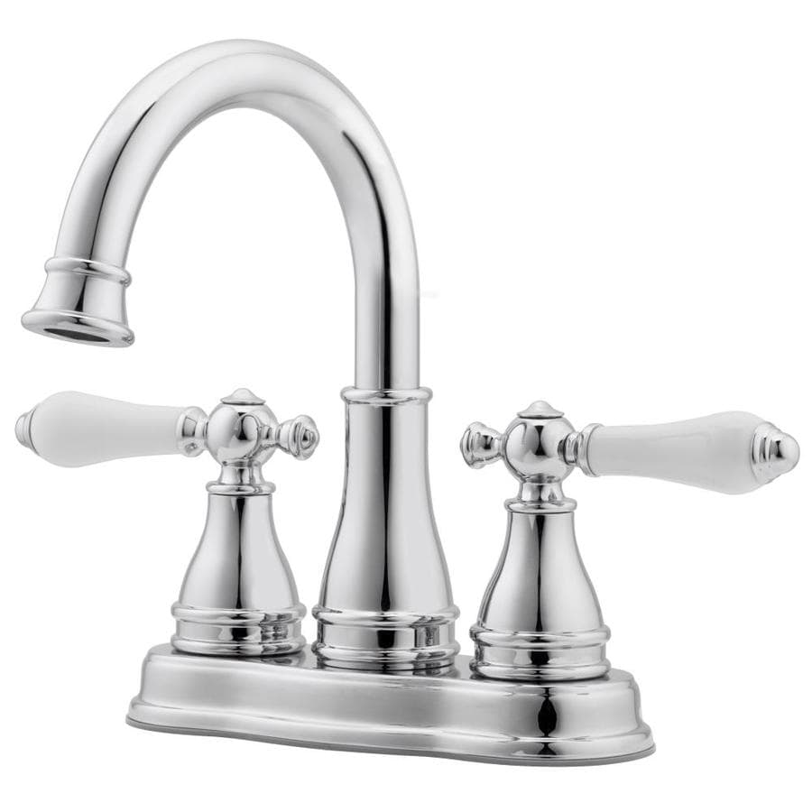 pfister sonterra polished chrome 2 handle 4 in centerset watersense bathroom sink faucet with drain and deck plate