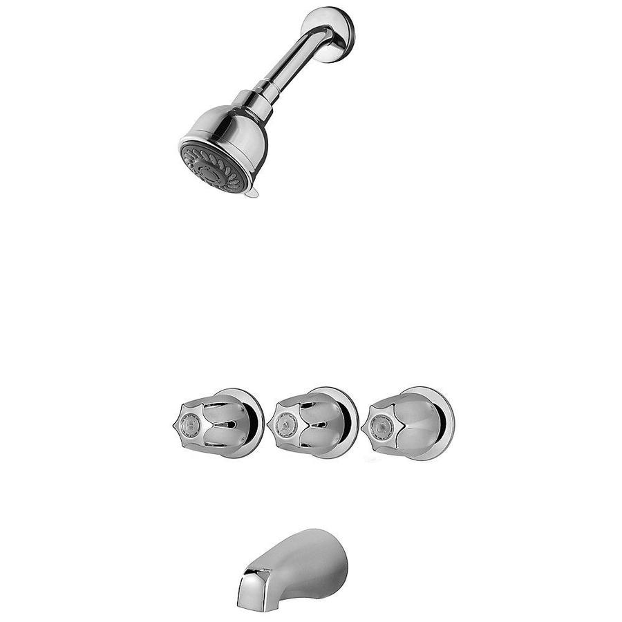 3 handle knob shower faucets at lowes com