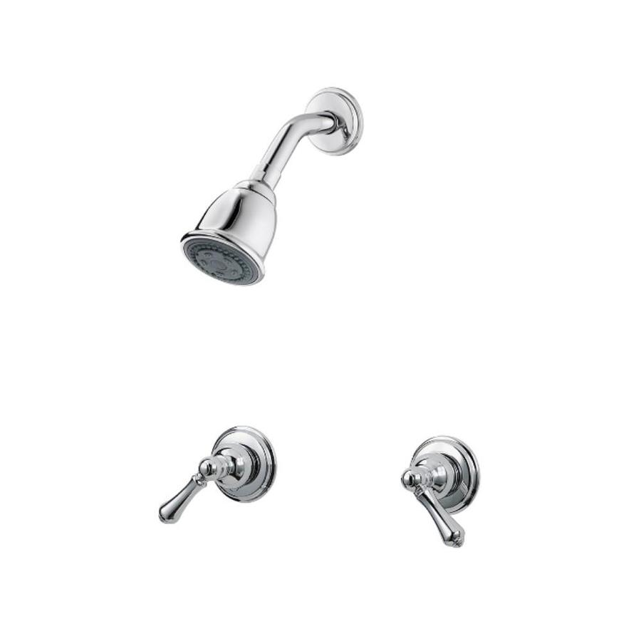 pfister 07 series chrome 2 handle bathtub and shower faucet