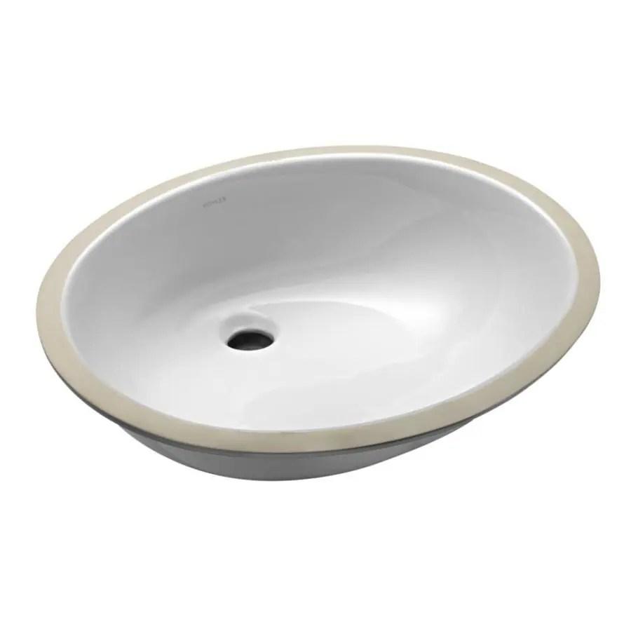 kohler caxton white undermount oval bathroom sink 21 25 in x 17 25 in