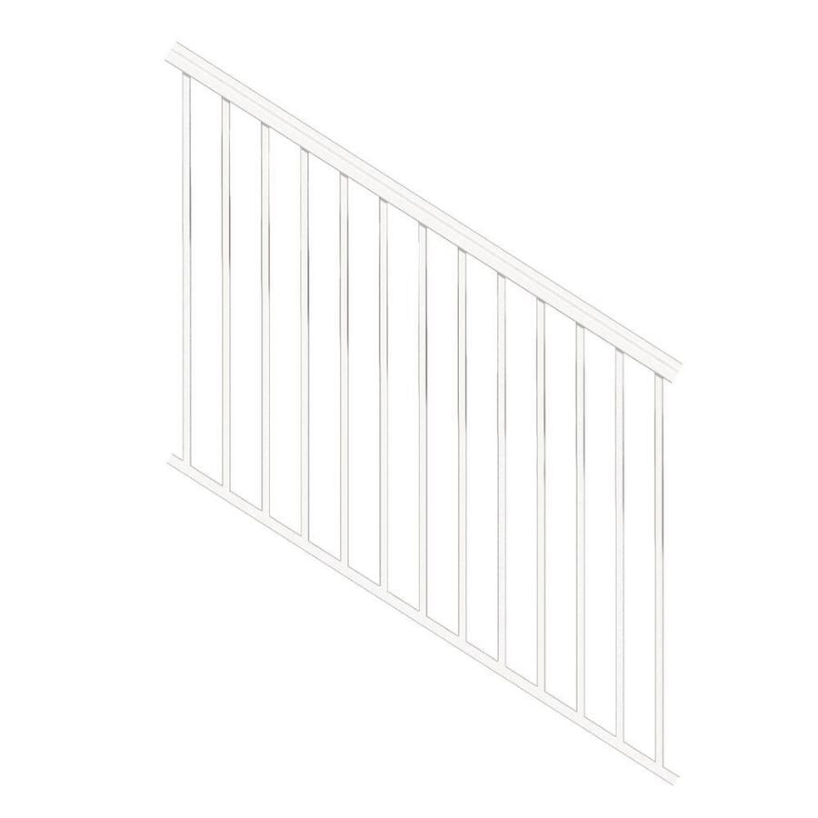 Freedom Versarail Stair White Aluminum Deck Stair Rail Kit With | Outdoor Step Railing Lowes | Outdoor Living | Lowes Com | Composite Decking | Handrail Kit | Deck Stairs
