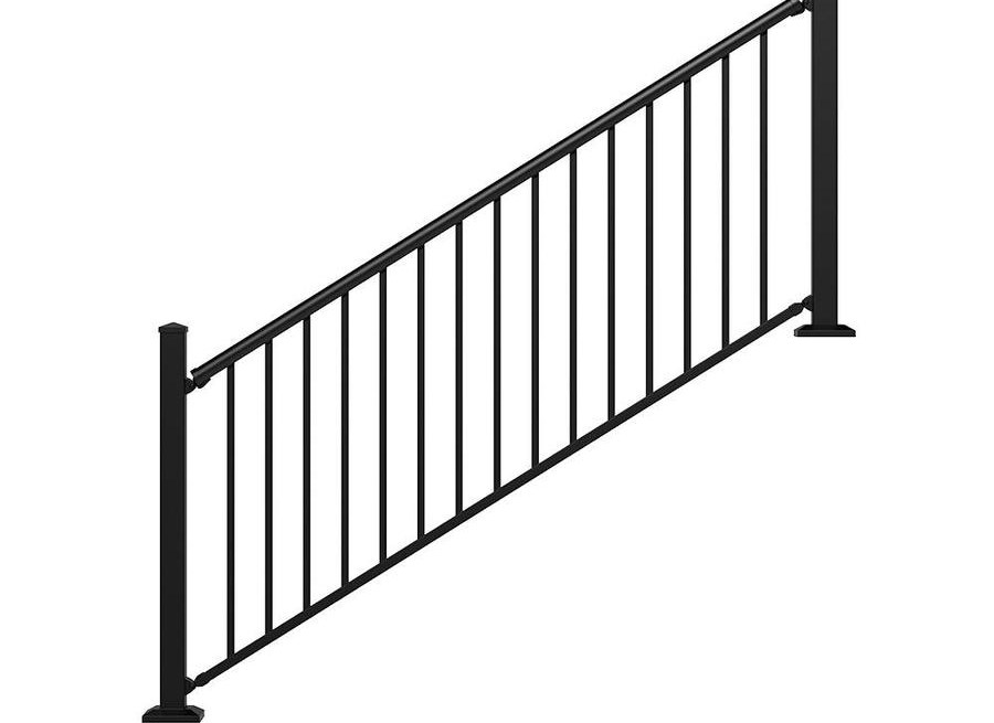 Stair Rail Deck Railing At Lowes Com | Iron Railings For Outside Steps | Front Porch | Deck Railing | Cast Iron | Railing Systems | Staircase