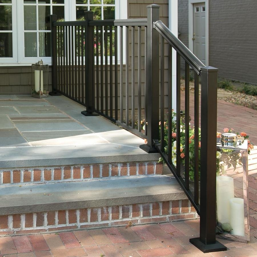 Freedom Cambridge Matte Black Deck Stair Rail In The Deck Railing | Outdoor Stair Railing Lowes | Winchester | Concrete | Wrought Iron Railings | Stair Treads | Matte Black