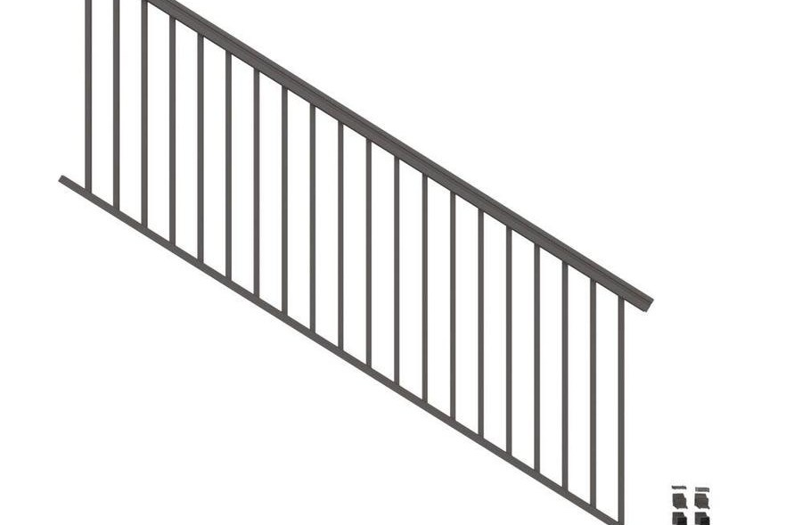 Stair Rail Deck Railing At Lowes Com   Outdoor Iron Railings For Steps   Outside   Aluminum   Wood Treads   Staircase   Custom