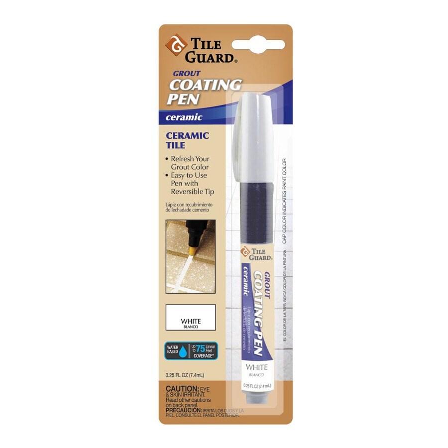 tile guard 25 oz white grout coating pen