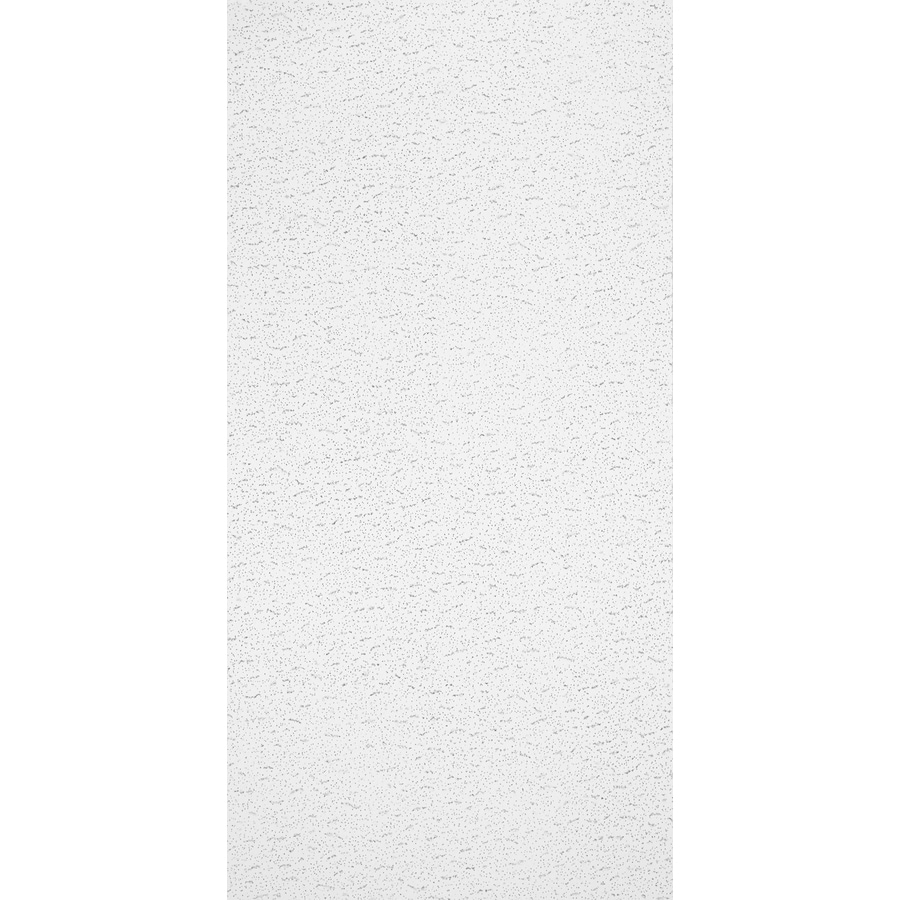 armstrong ceilings 48 in x 24 in textured contractor 10 pack white fissured 15 16 in drop acoustic panel ceiling tiles lowes com