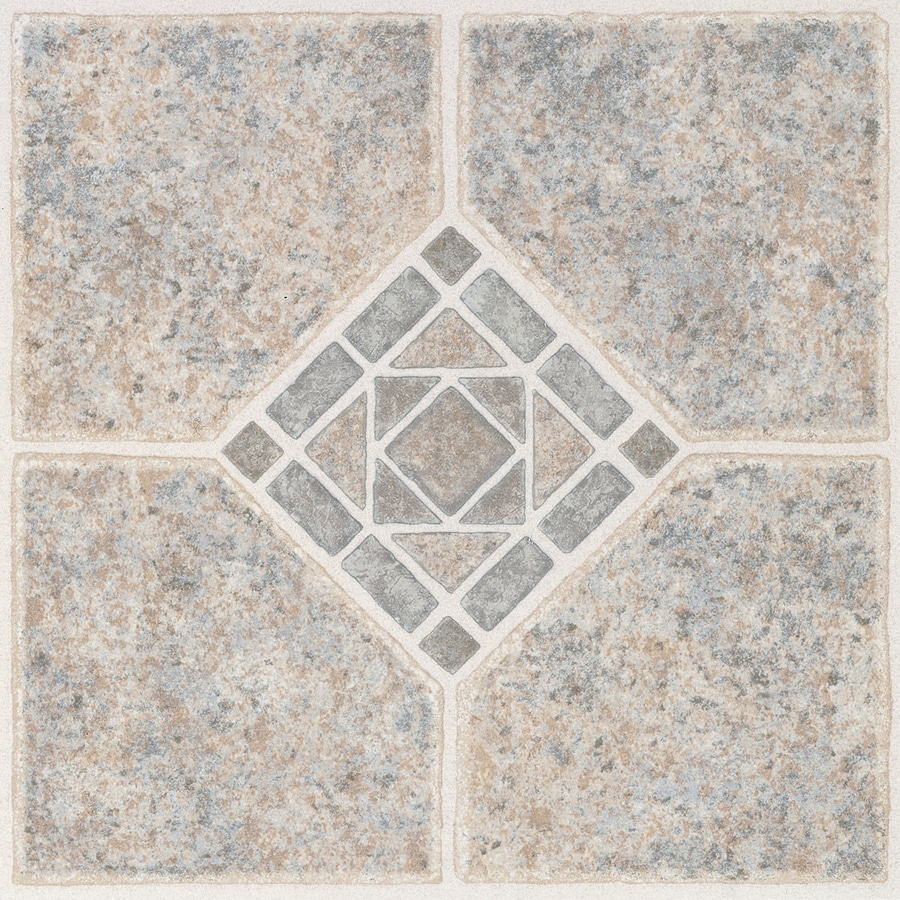 style selections 1 piece 12 in x 12 in basil peel and stick pattern vinyl tile lowes com