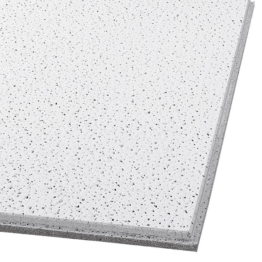 armstrong ceilings 24 in x 24 in fine fissured contractor 16 pack white fissured 15 16 in drop acoustic panel ceiling tiles lowes com