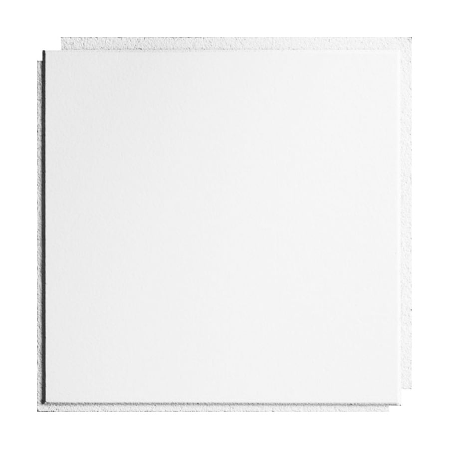 armstrong ceilings 12 in x 12 in washable white 40 pack white smooth surface mount acoustic ceiling tiles lowes com