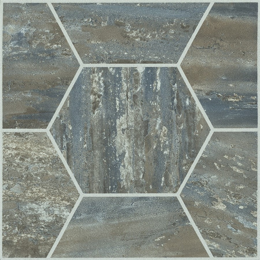 armstrong flooring terraza cooled mocha 12 in x 12 in water resistant peel and stick vinyl tile 1 sq ft